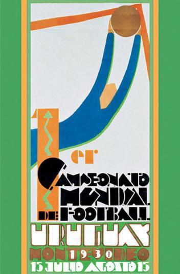 Poster prvog Svjetskog nogometnog prvenstva održanog u Urugvaju 1930. godine