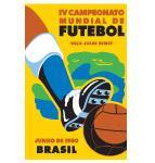 Poster Svjetskog nogometnog prvenstva u Brazilu 1950. godine