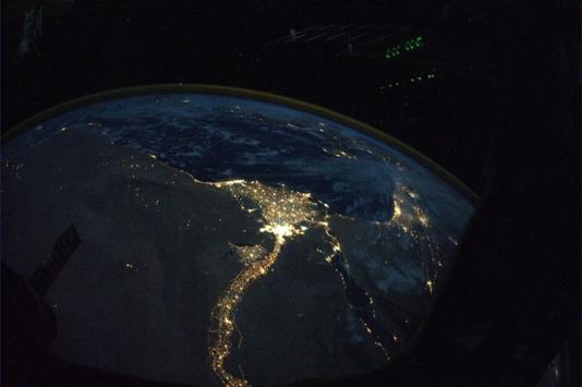 Kairo i Nil noću