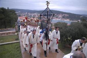 Procesija Za Križen, Hvar (Dalmacija)
